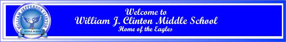William Jefferson Clinton Middle School  Logo